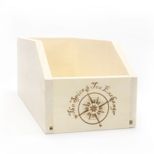 Small TSTE® Branded Wood Storage Box