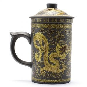 Dark Brown Dragon Tea Mug Infuser