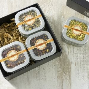 Herbal Tea 4 Tin Gift Box