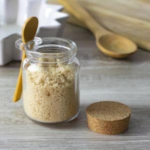 Round Glass Jar with Cork & Spoon