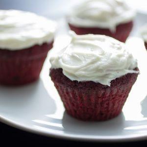 Beet Root Red Velvet Cupcakes