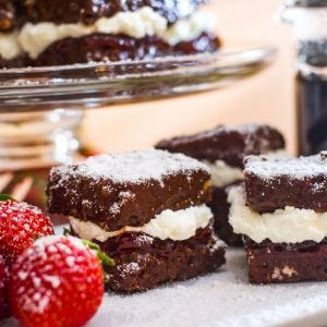 Berries & Cream Lamingtons