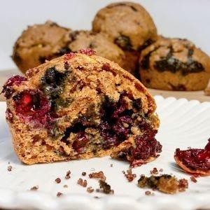 Blueberry Zucchini Breakfast Muffins