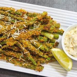 Cheesy Asparagus Fries