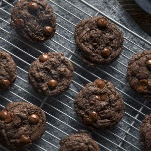 Mexican Triple Chocolate Cookies