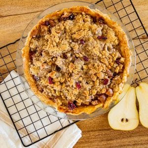 Mulled Cranberry Pear Pie