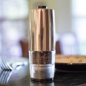 Silver Electric Pepper Mill