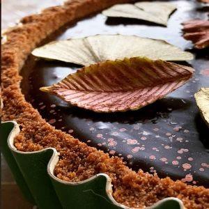 Pumpkin Pie with Chocolate Ganache
