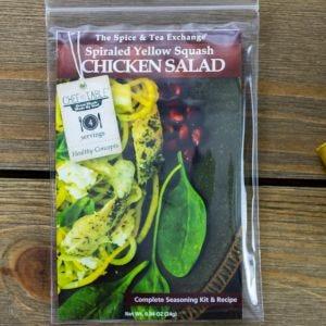 Spiraled Yellow Squash Chicken Salad Recipe Kit
