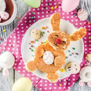 Sweet Potato Bunny Pancakes with Salted Caramel Butter