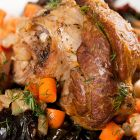 Braised Lamb Shanks with Roasted Vegetables