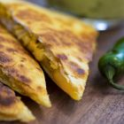 Chicken Quesadillas and Guacamole