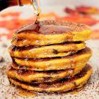 Cocoa Spiced Pumpkin Pancakes