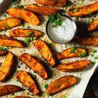 Garlic Truffle Potato Wedges