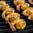 Grilled Harissa Marinated Shrimp