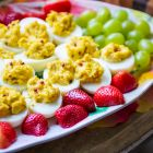 Pink Pepperberry Deviled Eggs