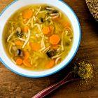 Ginger Turmeric Vegetable Tea Soup