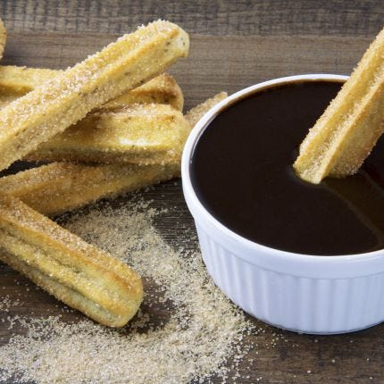 Baked Churros & Orange Chocolate