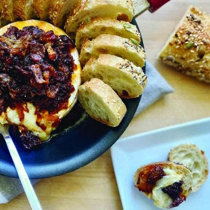 BBQ Bacon Baked Brie