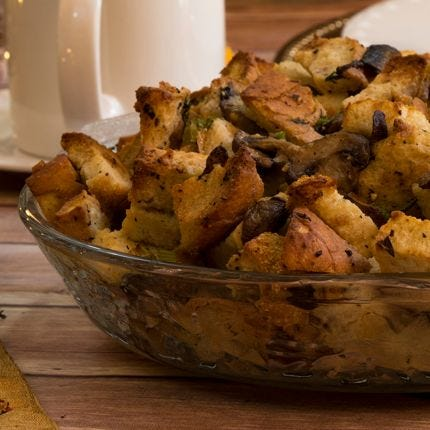 Boursin and Mushroom Stuffing