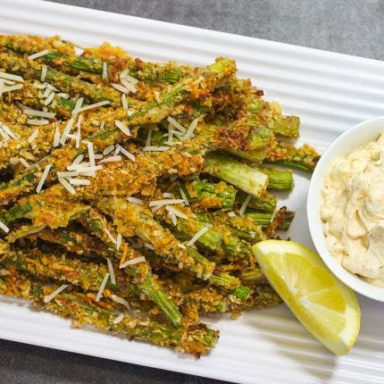 Cheesy Asparagus Fries