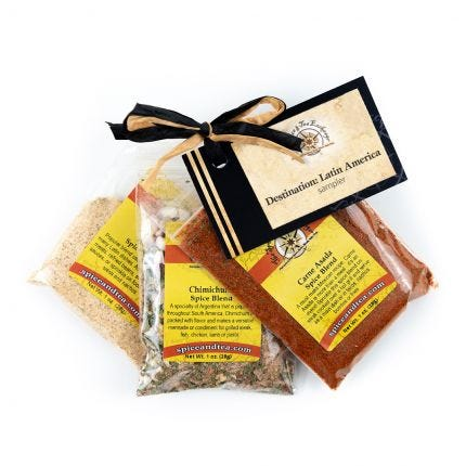 DESTINATION: LATIN AMERICA spice blend sampler