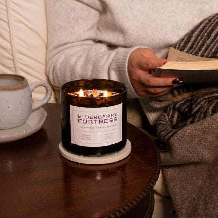 Elderberry Fortress Candle