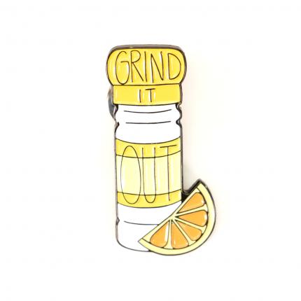 Enamel Pin - Grind It Out