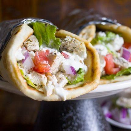 Greek Chicken Gyros & Tzatziki