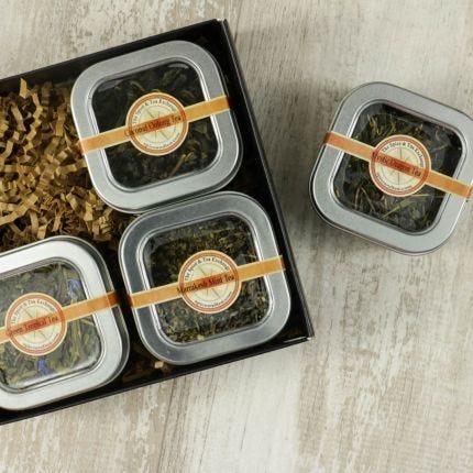 Green Tea 4 Tin Gift Box