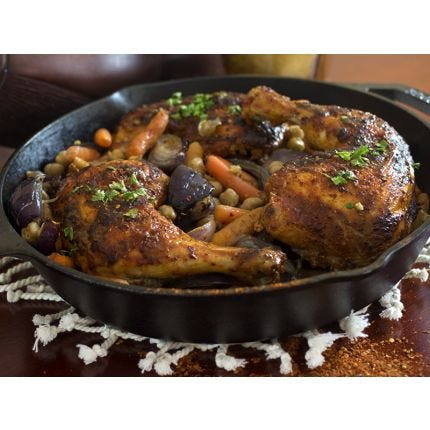 Harissa Roasted Chicken & Chickpeas