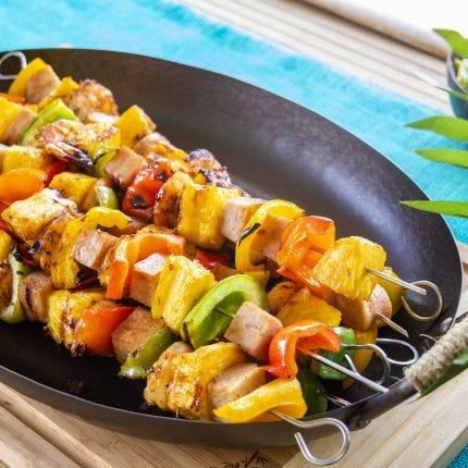 Hawaiian Shrimp & Spam Kabobs