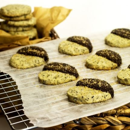 Hazelnut Tea Shortbread Cookies