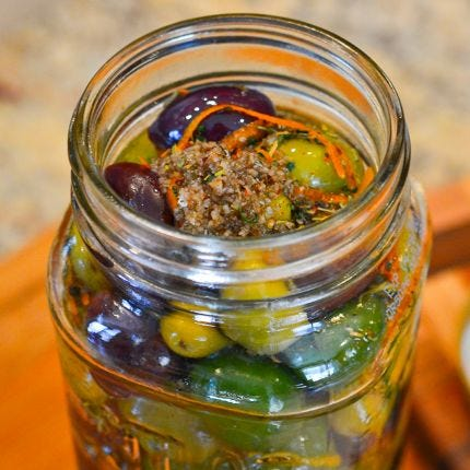 Herbed Citrus Marinated Olives