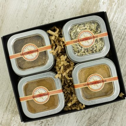 Holiday Seasonings 4 Tin Gift Box