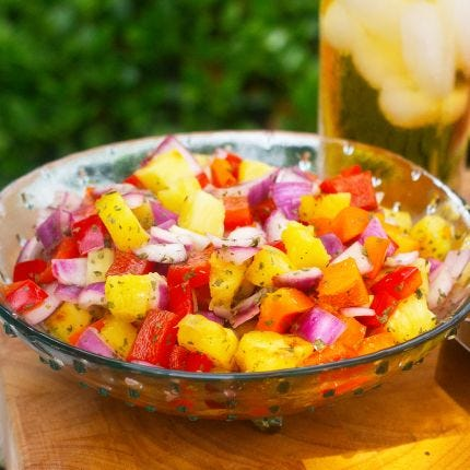 Honeyed Pineapple Relish