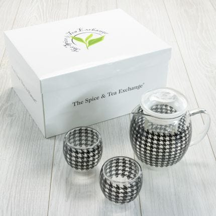 Tea Set - Glass Houndstooth