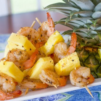 Jamaican Jerk Shrimp Skewers