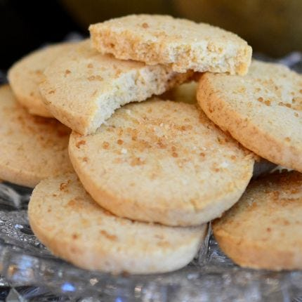 Lemon Star Anise Shortbread Cookies