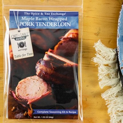 Maple Bacon Wrapped Pork Tenderloin Recipe Kit
