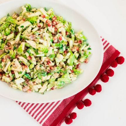 Pomegranate & Brussel Sprout Salad