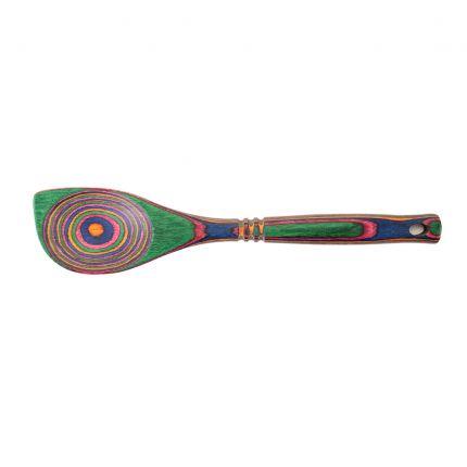 Rainbow Pakkawood Corner Spoon