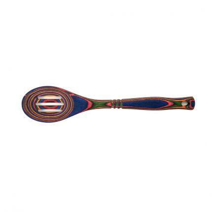Rainbow Pakkawood Slotted Spoon