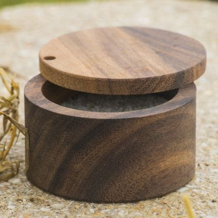 Acacia Swivel Salt Box
