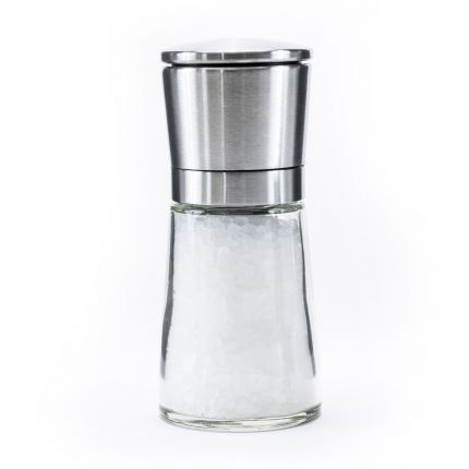 Glass Salt Mill with Steel Lid