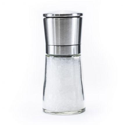 Glass Salt Mill with Steel Lid