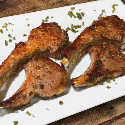 Seasoned Lamb Chops