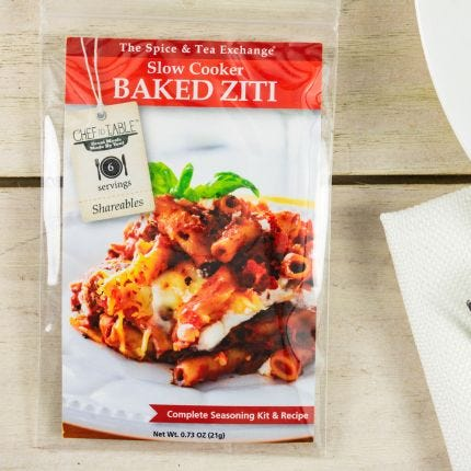 Slow Cooker Baked Ziti Recipe Kit