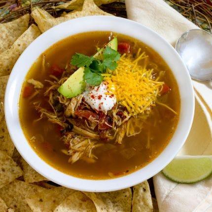 Slow Cooker Enchilada Chicken Soup