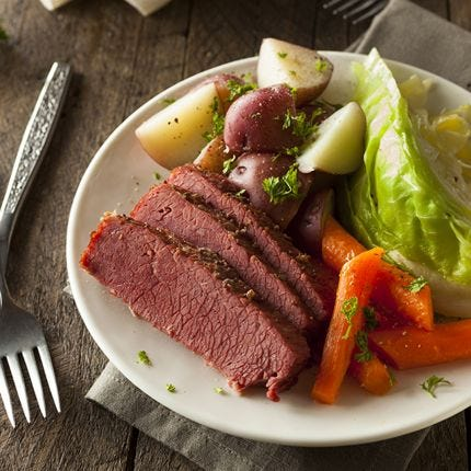 Smoked Corned Beef & Cabbage